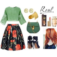 redheads earth green, polyvore.com by silvanacasalins81