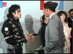 July 18, 1988: Prince Charles Princess Diana with Michael Jackson at the Michael Jackson Concert in aid of the Prince's Trust at Wembley. Michael's so lovely ❤️