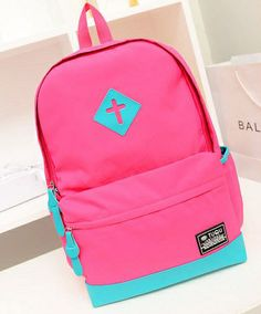 stacy bag women fashion neon backpack female Preppy style candy travel backpack school bag bags canvas travel bags $10.00