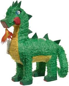 Green Dragon Pinata for Knight birthday party