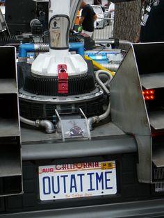 DeLorean Time Machine (movie car) - Celebration, FL Exotic Car Show 4/14/2012