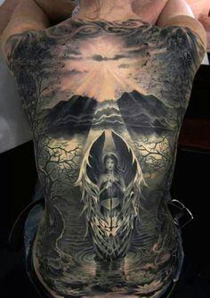 tatuajes de espalda entera para mujeres