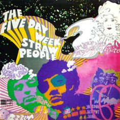 1968 Five Day Week Straw People - psychedelic album Lp Cover, Vinyl Cover, Cover Art, E Design, Cover Design, Character Illustration, Illustration Art, Illustrations, Hippie Trippy
