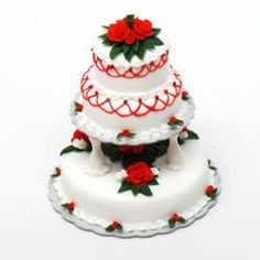 3 Tier Cake : Cake for wedding, reception or anniversary then this 3 tier cake is a perfect choice. Its available in two flavours vanilla or chocolate. You can specify your choice of flavour. Weight 3.5kg. Cake shape, decoration and icing may differ from the image displayed.