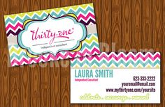 Custom Thirty One Gifts Business Card by BrookeInBloomDesigns, $8.00 www.mythirtyone.com/madisonbell