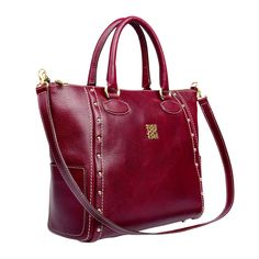 Macabeo Tote in Bordeaux Discover more at www.angelreinares.com