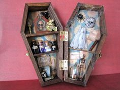 Jack's Ghost Miniature Coffin Shadow Box on Etsy, $50.00