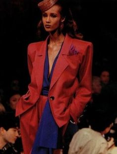 My Dream Woman is IMAN - {Yves Saint Laurent} One of our HauTe Favourites, the legendary Algerian-Born designer Yves Saint Laurent was known to be the first designer to create tuxedo suit for women and particularly first to introduce ethnic models i. Fashion 2018, Fashion Wear, High Fashion, Iman Bowie, Female Models, Women Models, Black Suits, Black Models, Black Power