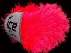 Eyelash Eyelash Phosphoric Pink knitting yarn by specialyarnshop, $3.00