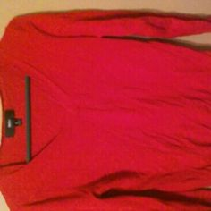 Red vneck sweater Red long sleeved fitted vneck sweater Mossimo Supply Co Sweaters V-Necks