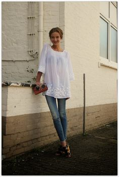 Art Symphony: White Boho Tops