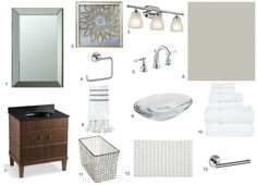Get the Look: Classic Small Bathroom - Scott's Reno to Reveal Classic Small Bathrooms, Classic Bathroom, Get The Look, Mood Boards, Bad, Inspiration, Design, Biblical Inspiration