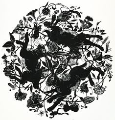 Bunny Tattoos, Rabbit Tattoos, Wicked Tattoos, Cover Tattoo, Fantasy Creatures, Hare, Handmade Art, Traditional Art, Printmaking