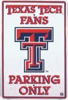 Texas Tech Parking Sign