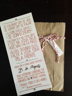 Dúvidas e Inspirações: Convites de Casamento Wedding Tips, Wedding Cards, Wedding Details, Diy Wedding, Rustic Wedding, Wedding Planning, Wedding Day, Wedding Stationery, Wedding Invitations