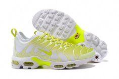 half off 518f1 1223b Top Quality Nike Air Max Plus TN Ultra Sneakers White Lemon Yellow Men s  Running Shoes 881560