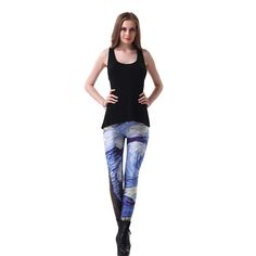Sexy Fashion Personality Printed Feminino Fitness Leggings High Waist Women Jeggings Workout Pants Clothing For Women Trousers
