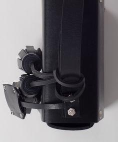 Black MECANO Nº3 detail by LESS BORE  #handmade #eco #Leather #cowhide #luxury #LessBore #handbag #slowfashion