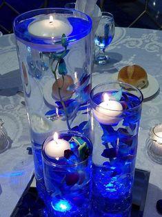 Centros de mesa azul para Bodas, cumpleaños , Baby Shower, Navidad Blue Wedding Receptions, Blue Wedding Decorations, Blue Wedding Centerpieces, Quince Decorations, Quinceanera Decorations, Floral Centerpieces, Wedding Table, Daisy Wedding, Our Wedding