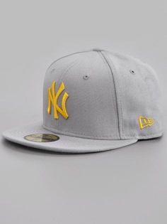 ce537df08f26c New Era New York Yankees Basic Grey Yellow Nur bis Sonntag (28.07) 25%