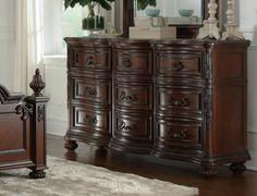 Treviso 9Dr Dresser w/Marble - Art Van Furniture
