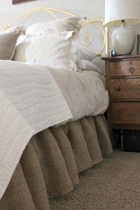 Burlap Diy Bed Skirt