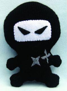A ninja amigurumi knitting pattern.