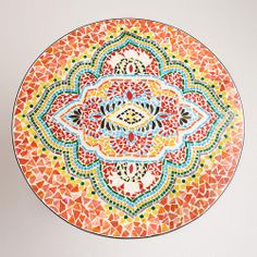 Medallion Cadiz Mosaic Bistro Table   World Market. Want this for my patio.
