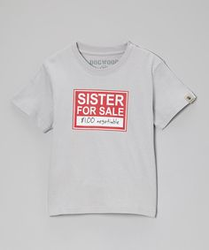 Clay 'Sister for Sale' Tee - Infant, Toddler & Kids