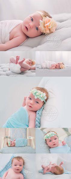 Gorgeous baby girl at 6 weeks #rhodeisland #babyphotographer #heidihope