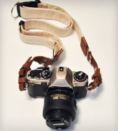 Leather & Canvas Camera Strap | Gear & Gadgets Camera | GowStar | Scoutmob Shoppe | Product Detail