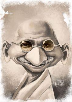 Mahatma Gandhi by Enderson Santos