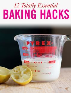 These baking tips are sure to make you seem like the best pastry chef around. (Because you are.) 12 Totally Life-Changing Baking Hacks - These baking tips are sure to make you seem like the best pastry chef around. (Because you are. Baking Tips, Baking Recipes, Baking Hacks, Baking Substitutions, Baking Basics, Cookbook Recipes, Cookie Recipes, Crockpot, Thing 1