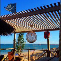 Descreve o teu pin... Bar na praia, Ilha do Farol, Algarve
