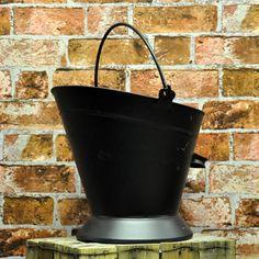 Tall Black Coal Bucket