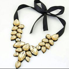 1 x Fashion Necklace. Size:Chain length : hope you could understand. Chunky Jewelry, Charm Jewelry, Fashion Necklace, Fashion Jewelry, Pretty Necklaces, Jewelry Necklaces, Jewelry Watches, Crystal Choker, Cheap Fashion