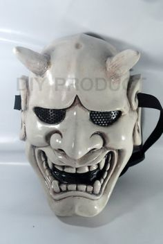 Japanese Hannya Evil Airsoft Mask and Prop Mask by Airsoft mask. $110.00. ABOUT THE MASK The design for this mask is made by conveniently integrating art and fighting sports to find a perfect answer for your fighting style in every battleground. Most importantly, it can protect your face and eyes from tiny BB gun plastic bullets. It is also resistant to the impact of hockey ball. Four layers of fiberglass resin reinforced by another two layers of specialty glass fiber...
