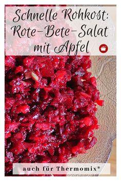 Rote-Bete-Salat mit Apfel: Rohkost Beetroot salad with apple raw food Apple Recipes, Raw Food Recipes, Easy Dinner Recipes, Appetizer Recipes, Beef Recipes, Easy Meals, Dessert Recipes, Healthy Recipes, Avocado Recipes