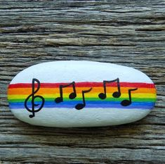 Musical Notes, Rainbow Painted Rock,Decorative Accent Stone, Paperweight by HeartandSoulbyDeb on Etsy Rainbow Painting, Turtle Painting, Pebble Painting, Pebble Art, Stone Painting, Turtle Painted Rocks, Painted Rocks Craft, Hand Painted Rocks, Painted Rock Cactus