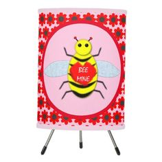 Cute Valentines Day Bee Tripod Lamp valentine's day ideas for kids, valentines cards, valentines puns #valentinesgiftforhim #valentinesgift #valentine, dried orange slices, yule decorations, scandinavian christmas