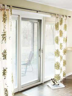 Stamped Flower Curtains