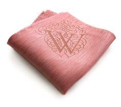 monogram pocket square handkerchief