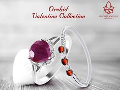 Amethyst Pink or Ruby Red? Find her the perfect ring this Valentine's Day!! #ValentineCollection #GiftForHer #OrchidJewelry #Rings