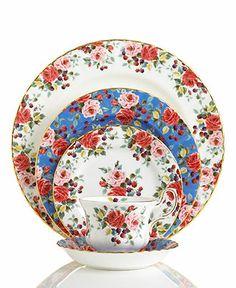 Royal Albert Dinnerware, Rosa 5 Piece Place Setting - Fine China - Dining & Entertaining - Macy's