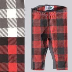 26a865838025e Preorder Lumberjack Leggings - Buffalo plaid baby and children's pants - Red  and black buffalo plaid