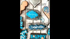 Birthday Gift Tag Decorated Sugar Cookies Tutorial Video