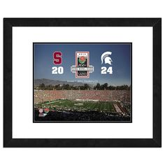 Michigan State Spartans 2014 Rose Bowl Champions 18'' x 22'' Framed Photo, Multicolor