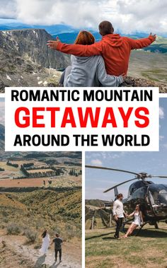 Romantic mountain Couples getaways in the USA and abroad - (whether a luxury vacation or cheap) you can't miss these mountain locations including Colorado, Georgia, Tennessee, North Carolina. These weekend trip ideas are ideal for anniversaries or a cozy winter retreat w/ snow! Travel Destinations for Couples | Dream Honeymoon Places | Romantic Mountain cabins | Vacations for Couples | Couples Getaway Ideas | Romantic Places | romantic trips #couplesgetaway #romanticgetaways #couplesvacation