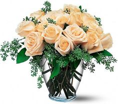 Peach roses make a unique flower bouquet! This product can be found at OverseasFlowerDelivery.com
