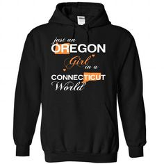 (ORJustCam002) Just An Oregon Girl In A Connecticut Wor - #gift bags #cute gift. MORE ITEMS => https://www.sunfrog.com/Valentines/-28ORJustCam002-29-Just-An-Oregon-Girl-In-A-Connecticut-World-Black-Hoodie.html?68278